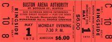 1972 Cassiuss Clay/Muhammed Ali Pass Ticket Vs Chuvalo Closed Circuit TV  Boston