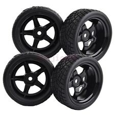 Black 9mm Offset RC 1:10 On-Road Car Foam Rubber Tyre Tires Wheels Rim 8030-8001
