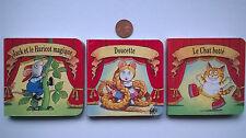 Lot 3 Mini Livres pour Enfant  - 8 cm X 8cm