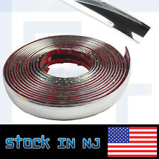 16ftx25mm Car Silver Chrome Moulding Trim Strip Decoration Door Bumper Edge Roof