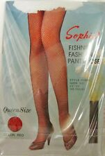 Fishnet Pantyhose Sophia Sexy Costume Fashion Red Tights Stockings QUEEN New