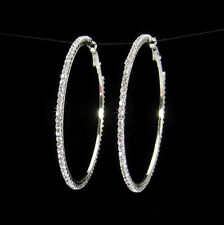 Womens Luxury Party Diamond Crystal Earring Ring Rhinestone Ear Hoop Dangle