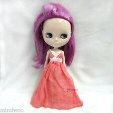 Blythe Momoko Hujoo Berry Pureneemo Bjd Outfit One-Piece Lace Long Party Dress