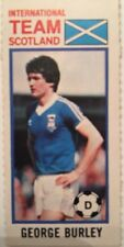 Topps 1980 Pink Back Chewing Gum Card George Burley Scotland Ipswich Town FC