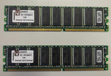 2 MODULOS MEMORIA 512Mb KTH-XW4100A/512 DDR KINGSTON (PC3200 400MHz)