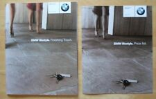 BMW Accessories Lifestyle Collection 2001 orig UK Market brochure + Price List
