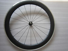 700C 60mm deep clincher full carbon bike wheel with alloy brake,front only