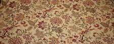 WAVERLY VINTAGE FLORAL BEIGE LINEN JACOBEAN FLORAL MULTI USE FABRIC BY THE YARD