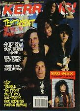 Testament on Kerrang Cover 1990                Skid Row