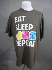 Eat Sleep Jam Repeat Sz 2XL T-Shirt Band Drummer Guitarist Music Lover Gift Tee