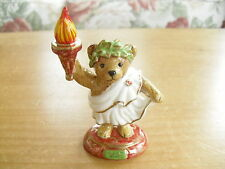 "Halcyon Days Teddy of the Year Figure - 2000 Torch Bearer - 4""(10.25cms)"