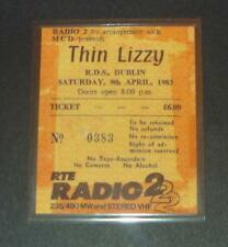 Thin Lizzy Ticket Stubb R.D.S Dublin 1983 Laminated Reproduction