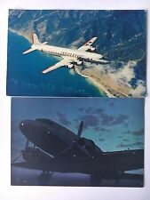 (2) Airline Postcards American Airlines DC-7/United Airlines Mainline Sleepers