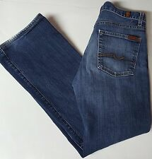 7 Seven For All Mankind Relaxed Fit Jeans 31 Stretch Button Fly USA Women's