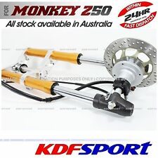 "KDF FRONT FORK DISC USD BRAKE 10"" WHEEL ALLOY CNC FOR HONDA MONKEY Z50 Z50R Z50J"