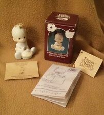 "Precious Moments ORNAMENT 1990 ""Babys First Christmas"" #523798"