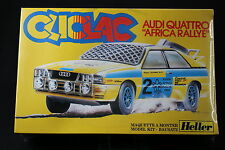 YQ082 HELLER 1/32 maquette cliclac voiture 2034 Audi Quattro Africa Rallye