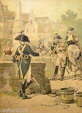 TANCONVILLE estampe encadrée 1911(6) UNIFORMES 1803 Rég. de CAVALLERIE de COLMAR