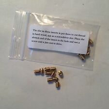 NEW MADE IN USA BRASS THREADED INSERT 2-56 SIZE PACKAGE OF 10