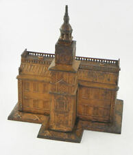 Antique Cast Iron Independence Hall Toy Bank - Exceptional Original Condition