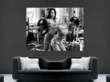 Weightlifting poster filles sexy hot wall art gym fitness poids image giant
