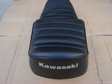 KAWASAKI KZ440 KZ550 REPLACEMENT SEAT COVER SILVER DYED LOGO