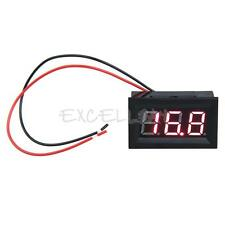 LCD DC 3.2-30V Red LED Panel Volt Voltage Meter Digital Voltmeter Car Motorcycle