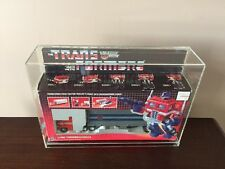 1984 Transformers G1 OPTIMUS PRIME 100% Complete In Custom Acrylic Case Wow!