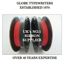 2 x 'ADLER TIPPA/TIPPA S' *BLACK/RED* TOP QUALITY *10 METRE* TYPEWRITER RIBBONS