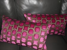 Dedar Milano Throw pillows GEMME geometric cut Velvet fabric Custom new PAIR