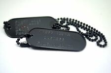 Personalized US Military Spec Original Dog Tags Black Matte Finish Dogtags