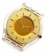 Swatch AG 2001 Champagne Dial White/Gold Tone Plastic Women's Watch Case