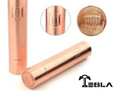 Polished Copper Penny MOD 18650  * RDA/ RBA*  Recessed SPRING Firing Button New!