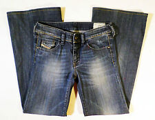 EUC Womens Size 24in. DIESEL YBO 008RI Wide Leg Jeans, Made in Italy