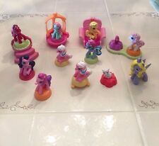 LOT OF 9 MCDONALDS MY LITTLE PONY 2007 HARD RUBBER ONE WITH HAIR ALSO CAT & BIRD