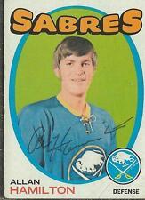Allan Hamilton 1971 Topps Autograph #49 Sabres