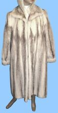 size 14 or Large GENUINE BROWN CROSS MINK FUR COAT - Superb !