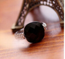 FD1496 Vintage Retro Palace Ring Gothic Faux Black Onyx Gemstone Ring Queen Ring