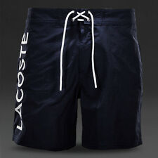 Men's LACOSTE Embroidered Logo Navy Blue Swim Trunks Swimming Shorts, M / Medium