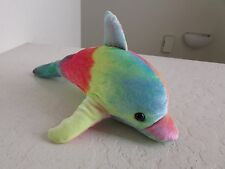 "Carousel  Toy Colorful DOLPHIN 10"" Plush Stuffed Animal"