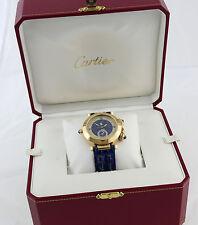 CARTIER Pasha Gold Herren Uhr HAU 30011 Mondphase Wecker Box documents 2009 38mm