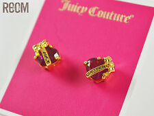 Juicy Couture 'Wishes' Banner Heart Stud Earrings Red