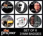 The Prisoner 6 X 31 mm Button Badges - Patrick McGoohan