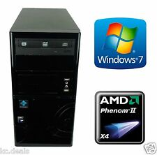 Custom Built PC Gaming Ready AMD Phenom II X4 955 1TB HD 8GB RAM Corsair CX430