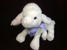 "Ganz Inspirational Lamb White Plush Soft Toy Stuffed 11"" HE9743"