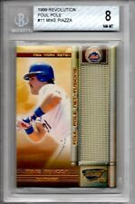 1999 Pacific REVOLUTION MIKE PIAZZA FOUL POLE NET FUSIONS BECKETT GRADE 8 NM-MT