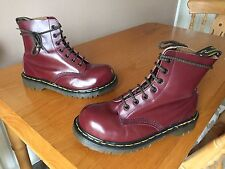 Vintage Dr Martens 7 eye cherry red boots UK 5 EU 38 steel England skin 1460