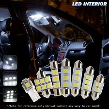 8 Pcs White Car LED Interior Lights Package kit For 2013-up Honda Accord