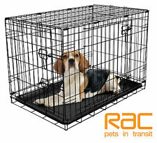 RAC Fold Flat Metal Dog Crate - Small 24""