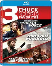 Delta Force / Lone Wolf Mcquade / Code Of Silence (2014, Blu-ray NEUF)